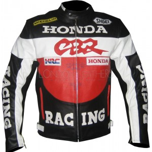Honda CBR Red Motorcycle Leather Biker Jacket